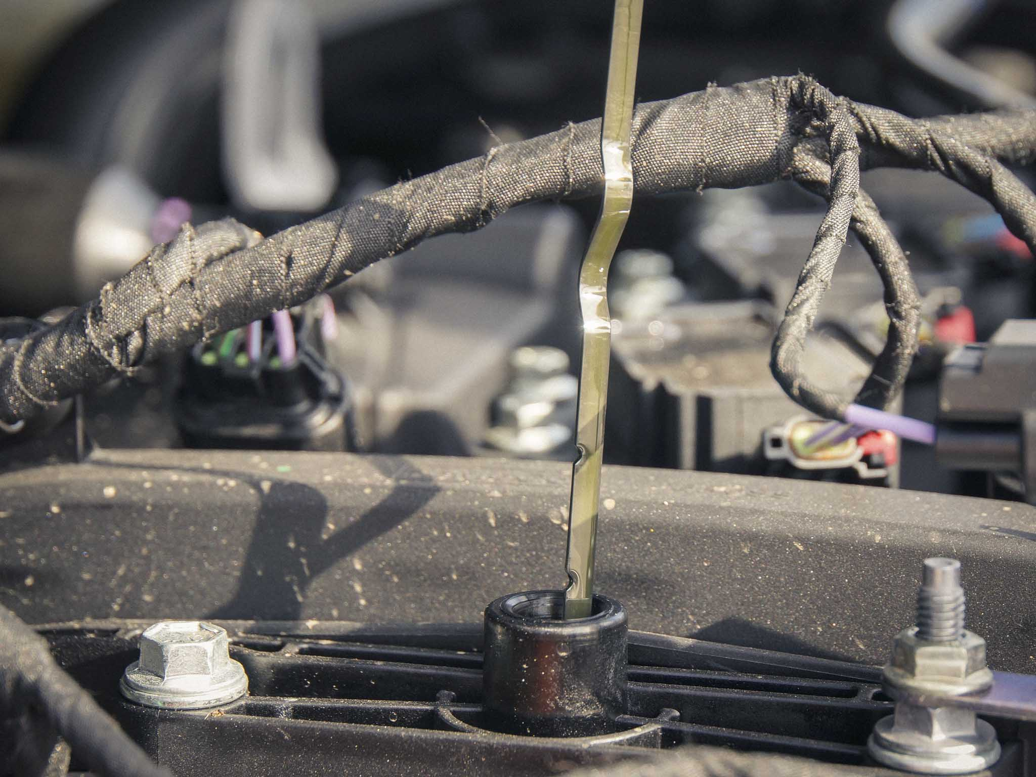 Der Ölstand beim Fahrzeug sollte regelmäßig gecheckt werden. Foto: Dominik Ziegler