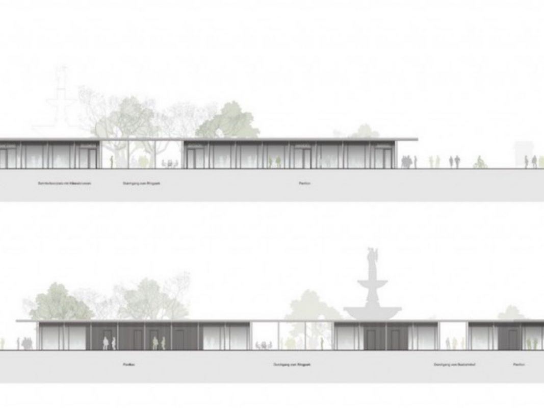 So sollen die neuen Pavillons am Bahnhof laut Plänen des Stuttgarter Architekturbüros Auer Weber aussehen. - Foto: Abbildung: Auer Weber Architekten