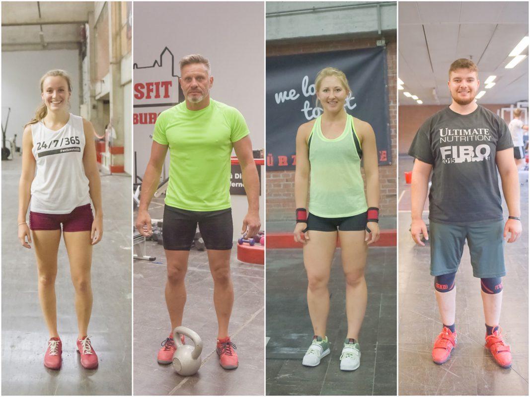 Diese vier trainieren bei Crossfit Würzburg. Fotos: Pascal Höfig