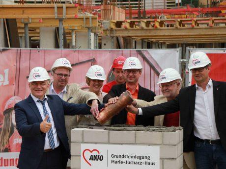 Grundsteinlegung des Marie-Juchacz-Haus. Foto: AWO Bezirksverband Unterfranken