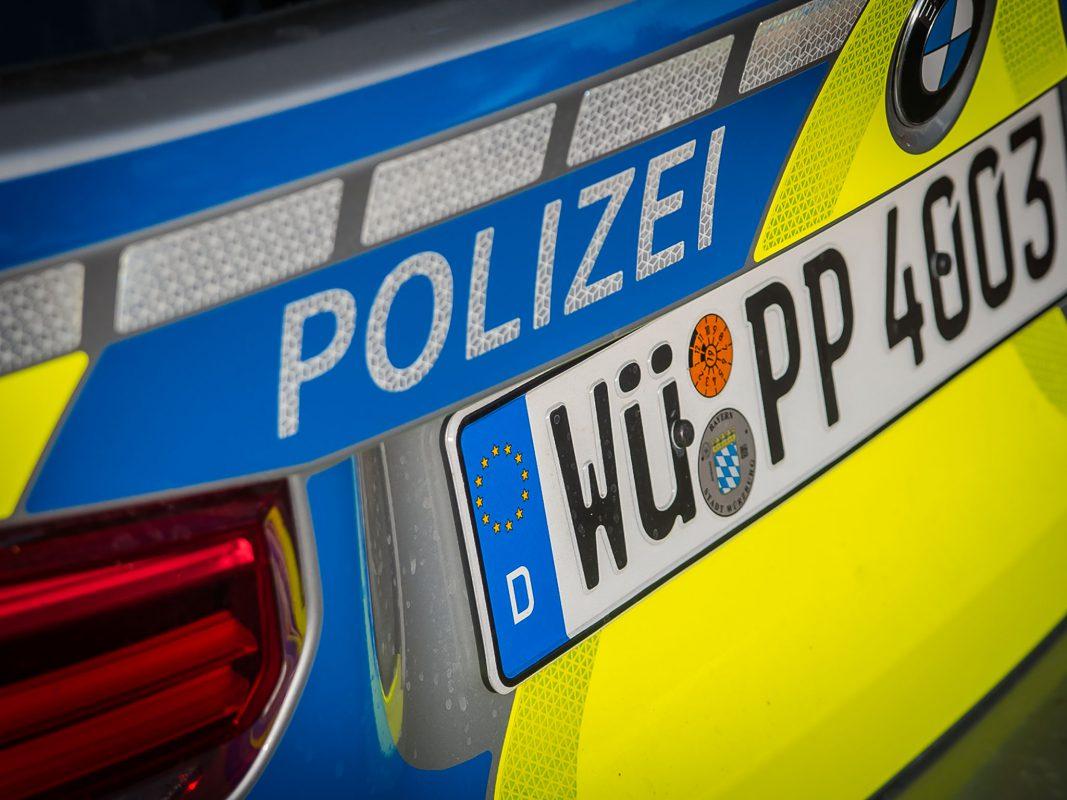 Streifenwagen der Polizei Unterfranken. Foto: Pascal Höfig