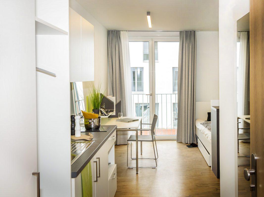 Voll möbliert und hochwertig designed – 522 Apartunities bietet Würzburger Studenten 522 neue Möglichkeiten eines Zuhauses. Foto: Pascal Höfig