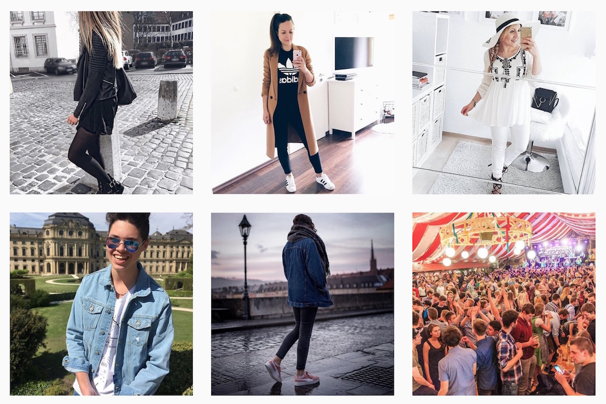 Die coolsten Looks im April. Screenshot: www.instagram.com/wuefashin