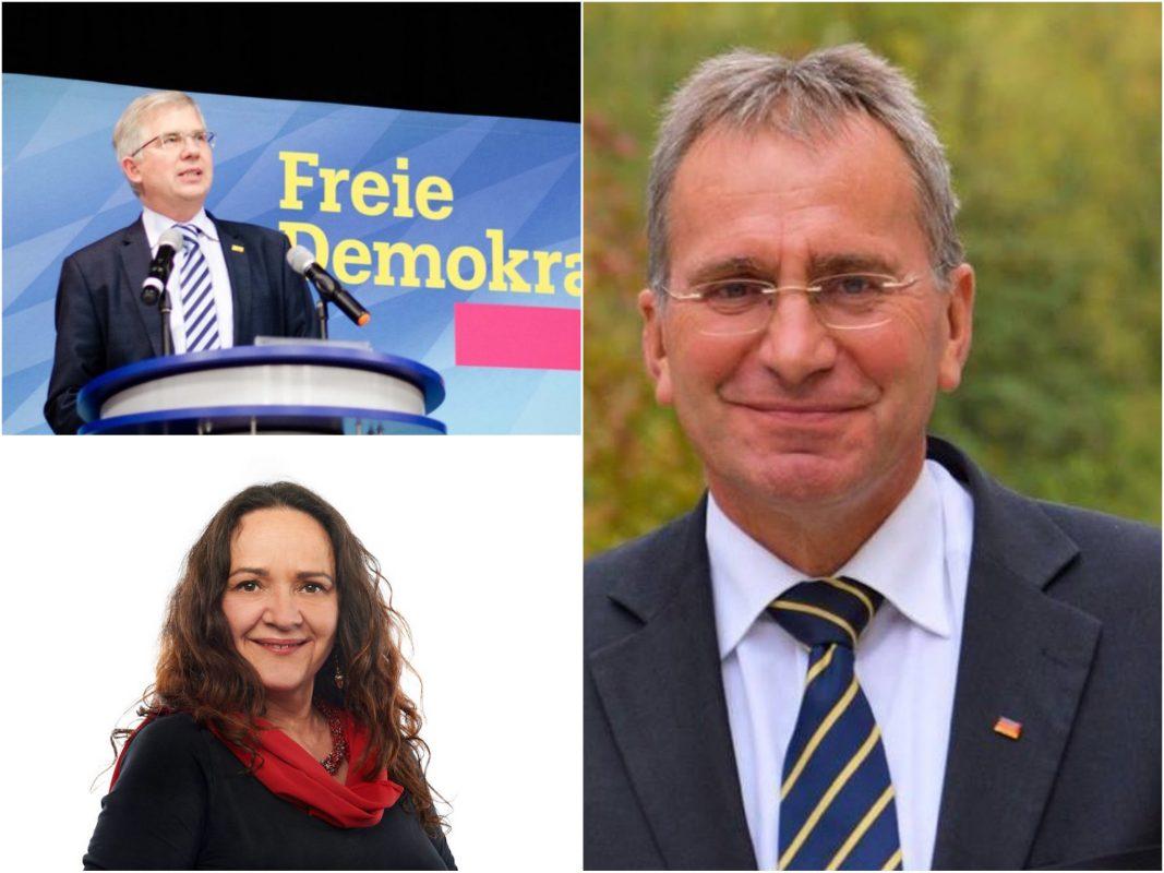 Andrew Ullmann, FDP. Foto: FDP-Kreisverband Würzburg, Paul Lehrieder, CSU. Foto: Paul Lehrieder, Simone Barrientos, Die Linke. Foto: Die Linke.