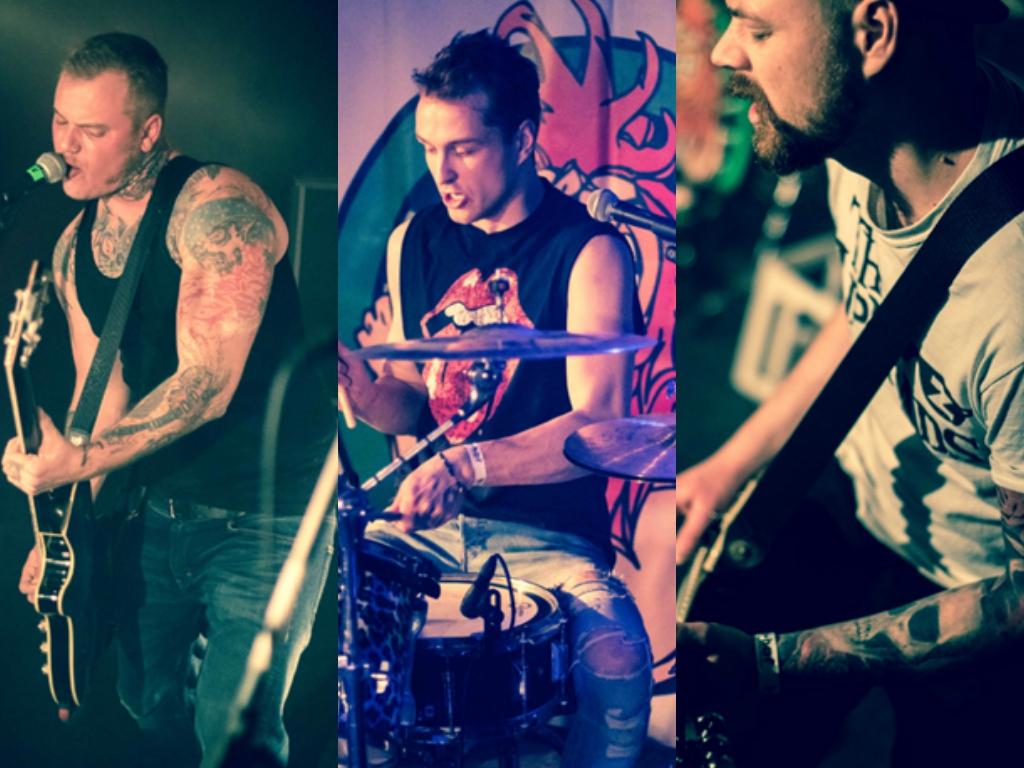 Die Band Cock Riot aus Thüngersheim. Fotos: Kilian Schick