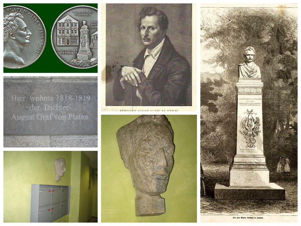 Der berühmte Dichter August von Platen lebte von April 1818 bis September 1819 in Würzburg - Fotos: Willi Dürrnagel.