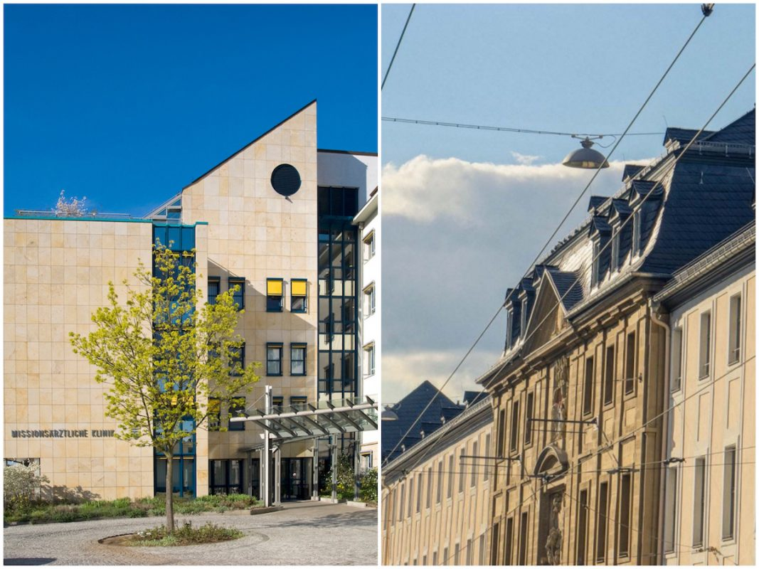 Klinikum Mitte: Missionsärztliche Klinik und Juliusspital. Fotos: links: Missio I rechts: Dominik Ziegler