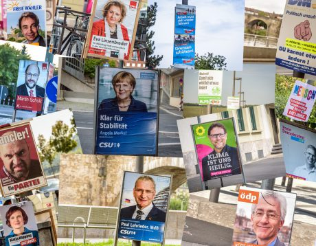Wahlplakate. Collage: Pascal Höfig