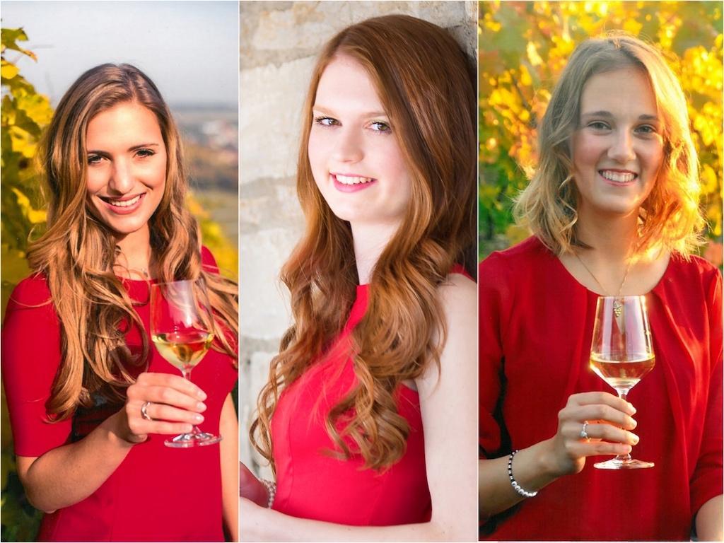 Die drei Bewerberinnen zur Wahl der 62. Fränkischen Weinkönigin. - Foto: Fränkischer Weinbauverband