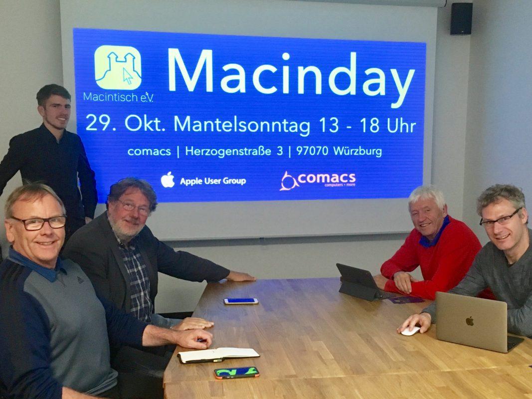 Macintisch-Mitglied Nicholas Kuhn mit einem Macintalk-Kurs bei comacs. Foto: Macintisch e.V.