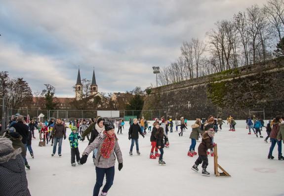 Die Eisbahn in Würzburg. Foto: Pascal Höfig