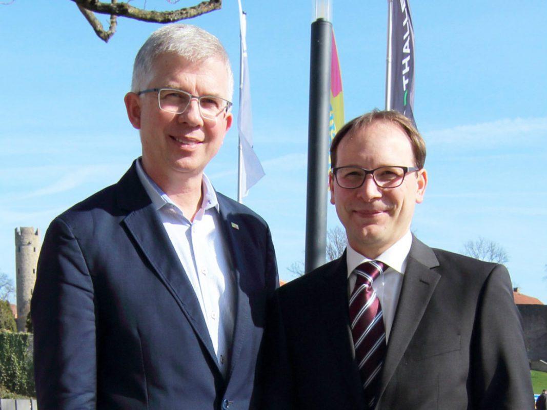 Andrew Ullmann und Karsten Klein. Foto: FDP Unterfranken