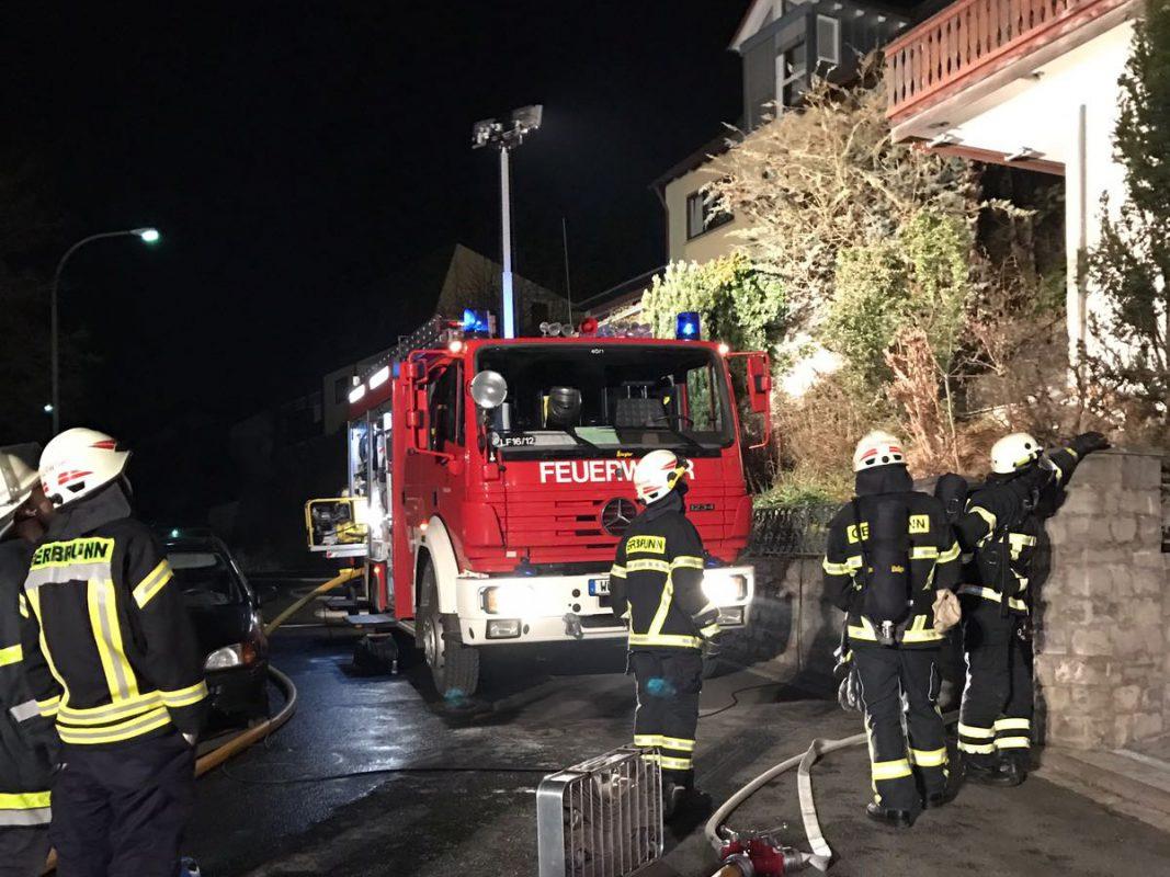Feuerwehren aus Randersacker und Gerbrunn hatten den Brand schnell unter Kontrolle - Foto: FF Gerbrunn