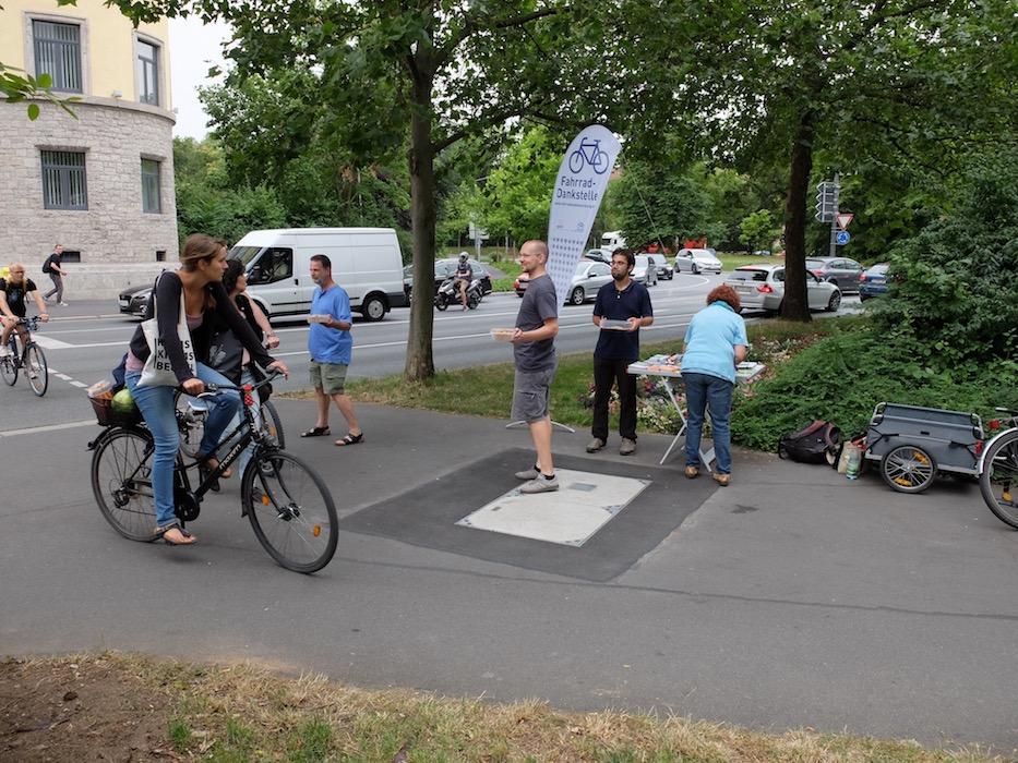 Die Fahrrad-Dankstelle war bereits das erste Mal ein voller Erfolg. Foto: Bas Bergervoet