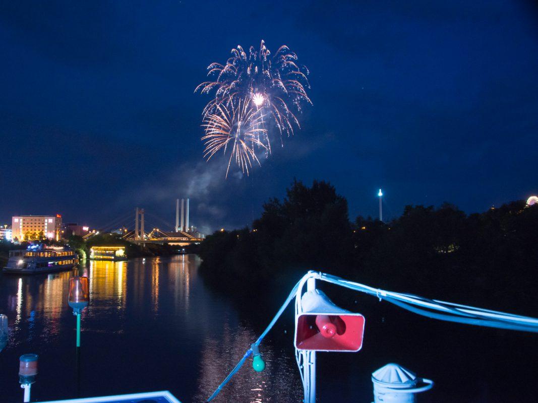 Feuerwerk Kiliani 2014. Foto: Pascal Höfig