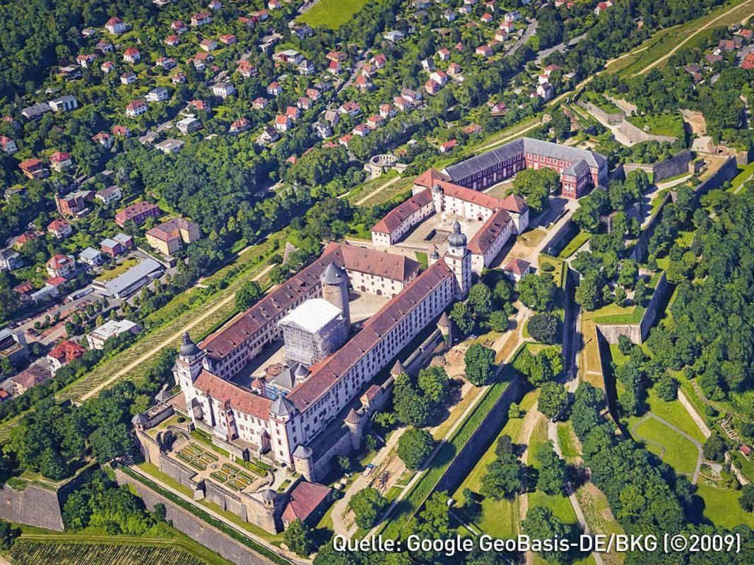 Dank Google Earth 9.0 kann man Würzburg nun komplett in 3D sehen. Foto: Google Earth