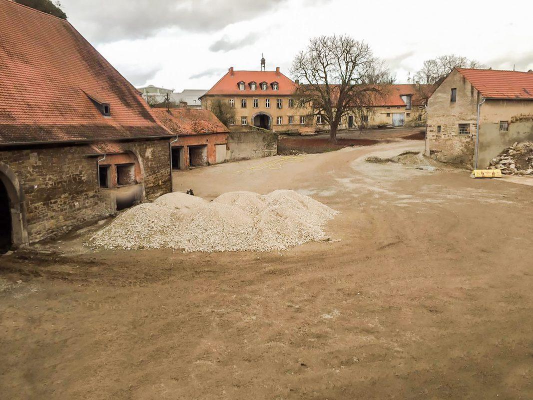 Umfangreiche Sanierungsarbeiten am Gut Wöllried. Foto: Gut Wöllried