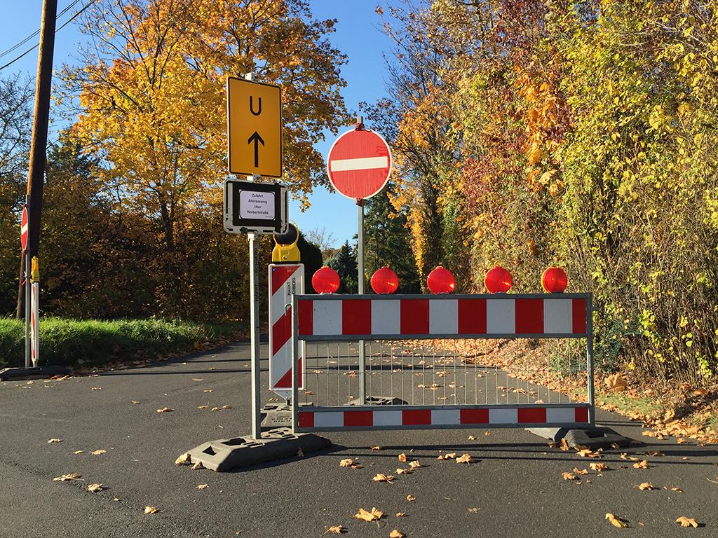 Sperrung Rampe B27 - Unterdürrbacher Straße - Würzburg erleben