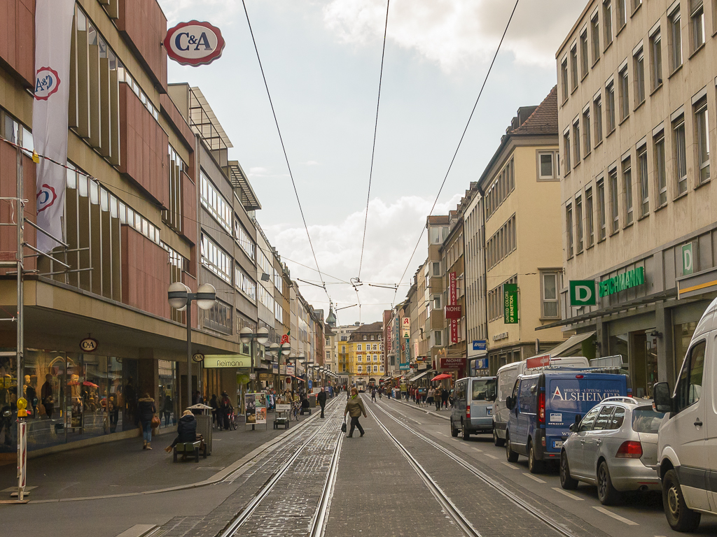 Kaiserstraße, Innenstadt, Shoppen, Einkaufen, Handel, Fußgängerzone