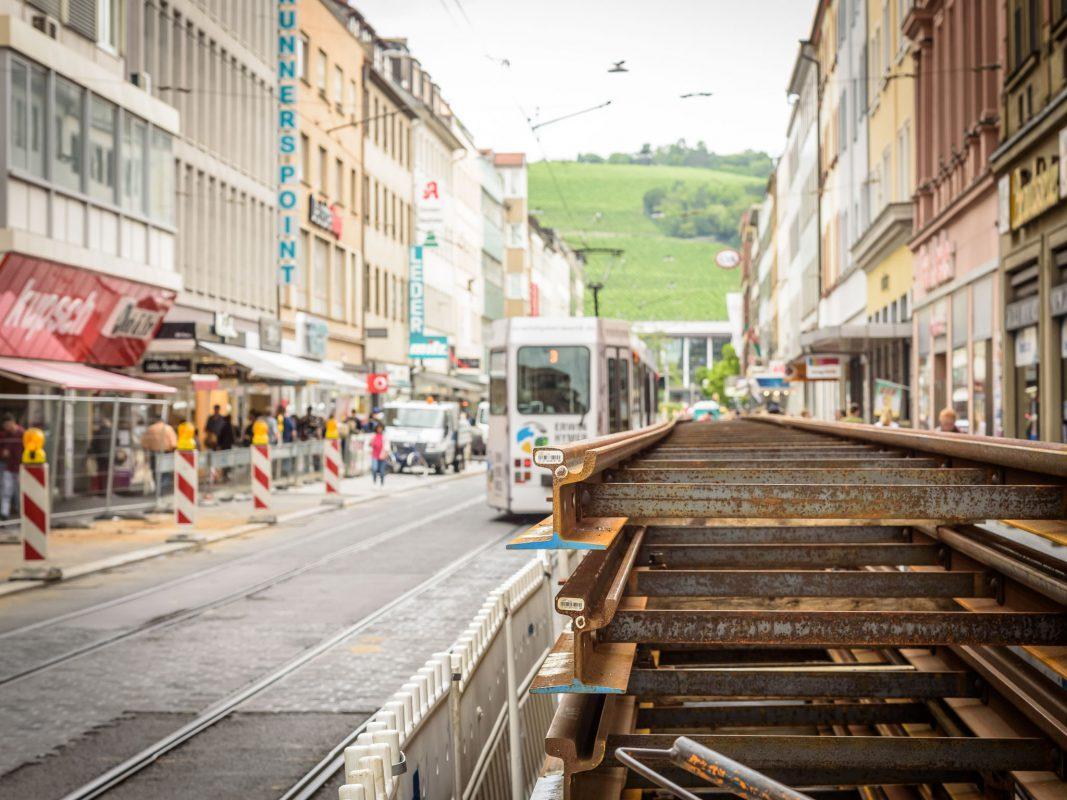 Baustelle in der Kaiserstraße. Foto: Pascal Höfig