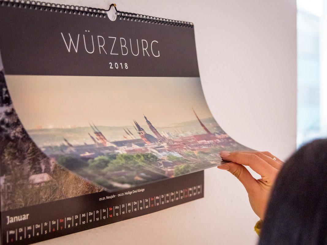 Der neue Würzburg Kalender 2018. Foto: Pascal Höfig