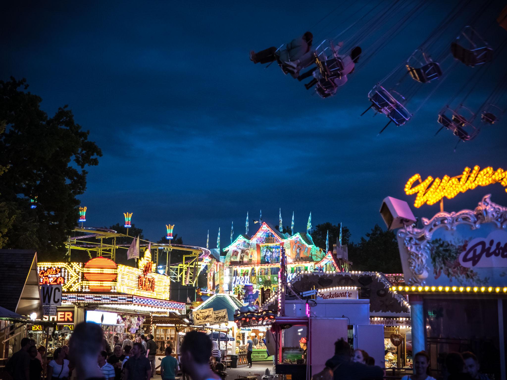 Das Kiliani Volksfest auf der Talavera in Würzburg. Foto: Pascal Höfig