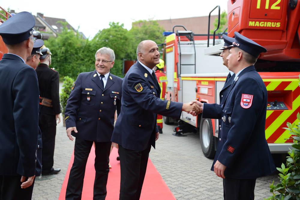 Empfang der Gäste in der Realschule Marktheidenfeld. Foto: Feuerwehr Marktheidenfeld