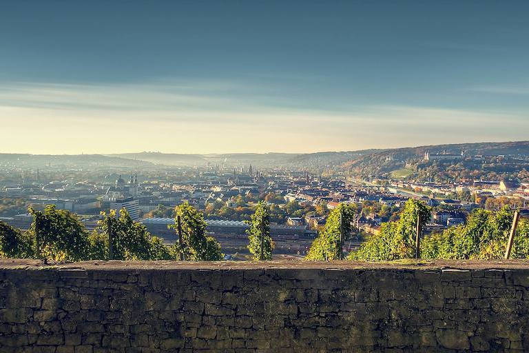 Aussicht der Weinberge auf Würzburg – Foto: Max Ziegler