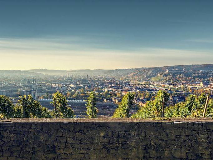 Aus den Weinbergen auf Würzburg schauen. Foto: Max Ziegler I Fotoblog Würzburg