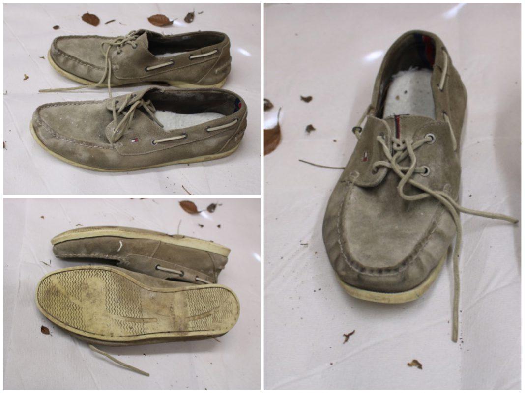 Wer kennt diese grau-braune Herrenmokassins der Fa. Tommy Hilfiger? Foto: Polizei