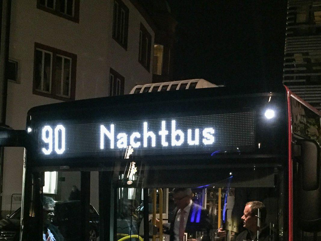 Nachtbus der Linie 90. Foto: Pascal Höfig