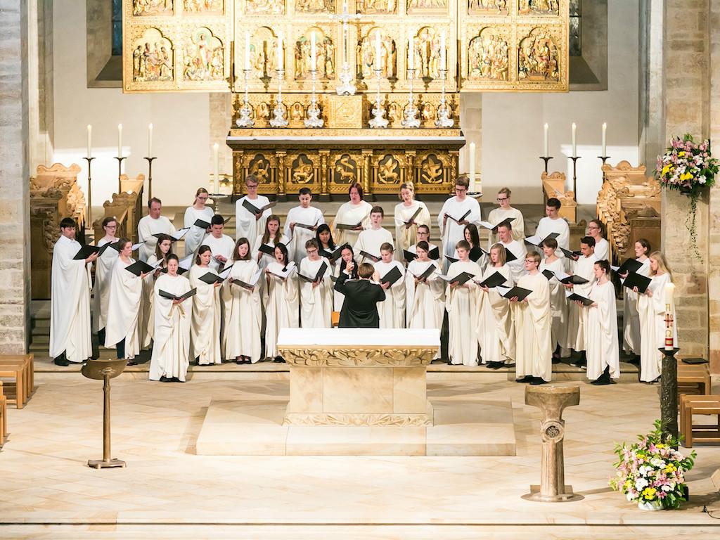 Der Osnabrücker Jugendchor ist am kommenden Sonntag zu Gast im Neumünster Würzburg. Foto: Dommusik Würzburg