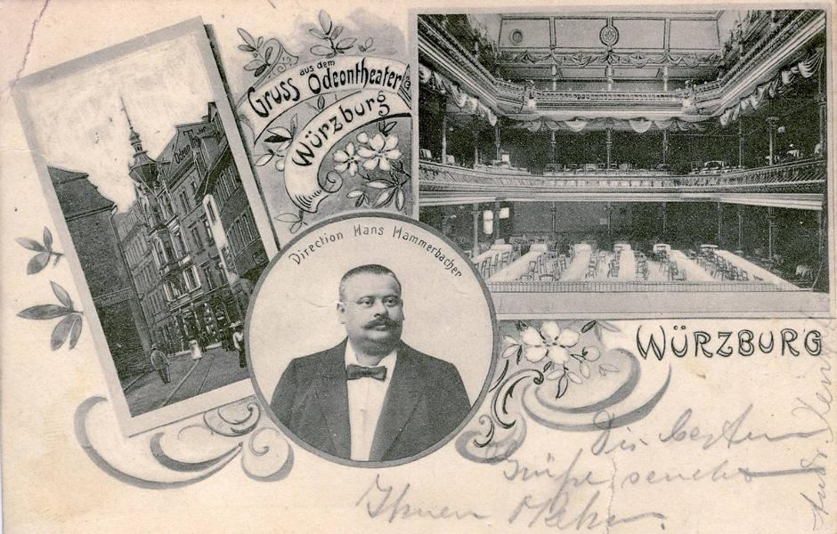 Das Odeon-Theater. Postkarte: Archiv Willi Dürrnagel