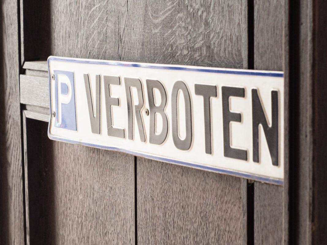 Parken verboten. Foto: Pascal Höfig