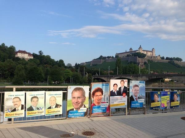Es wird wieder gewählt –2017 ist Bundestagswahl. Symbolfoto Wahlplakate: Würzburg erleben
