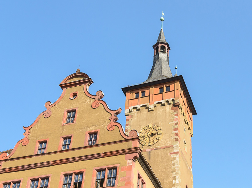 Der Grafeneckart und das Rathaus Würzburg - Foto: Pascal Höfig