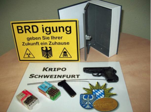 Im Lkr. Haßberge sichergestellt - Foto: Polizeipräsidium Mittelfranken/Kripo Schweinfurt