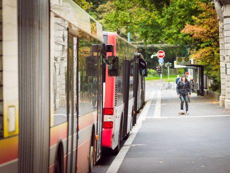 Omnibusse in Würzburg. Symbolfoto: Pascal Höfig