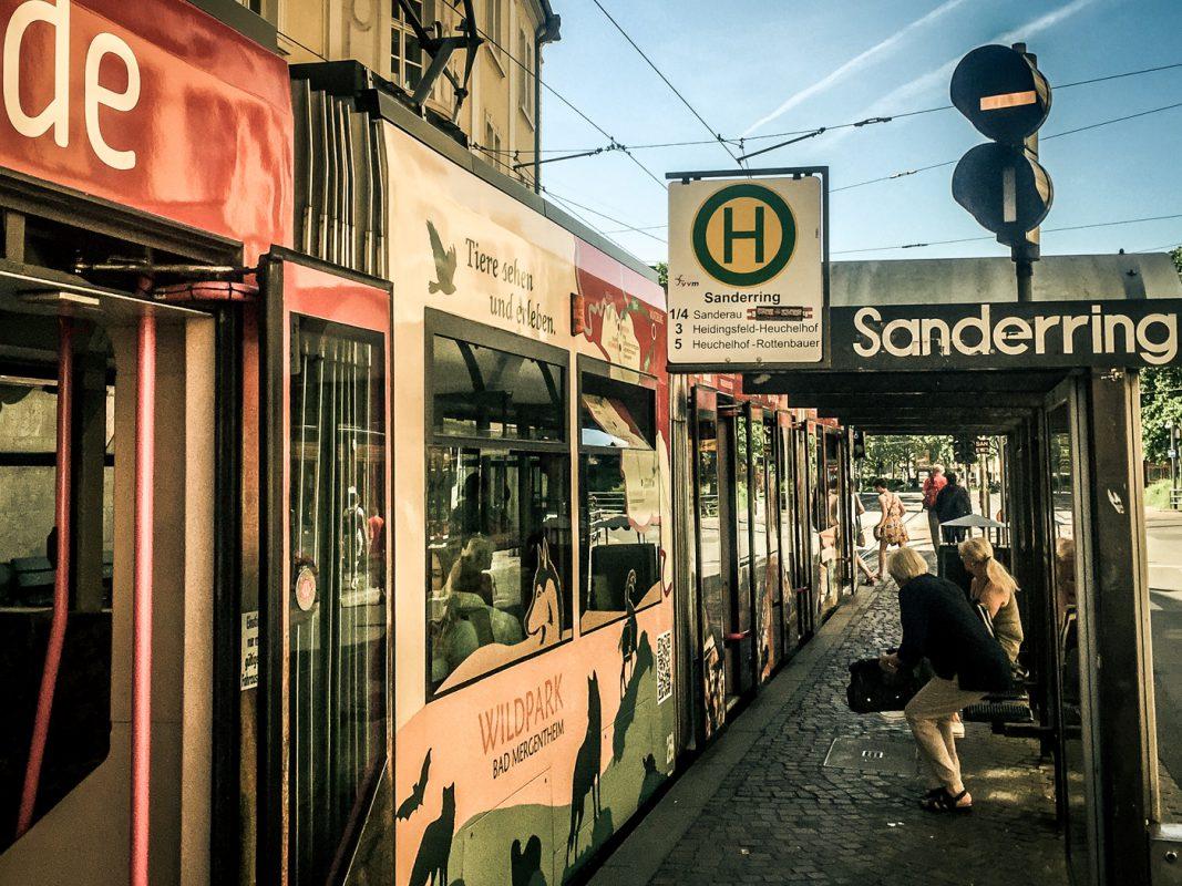 Die Haltestelle Sanderring. Foto: Pascal Höfig