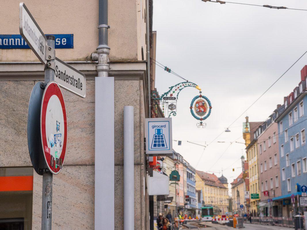 Die Sanderstraße in Würzburg. Foto: Pascal Höfig