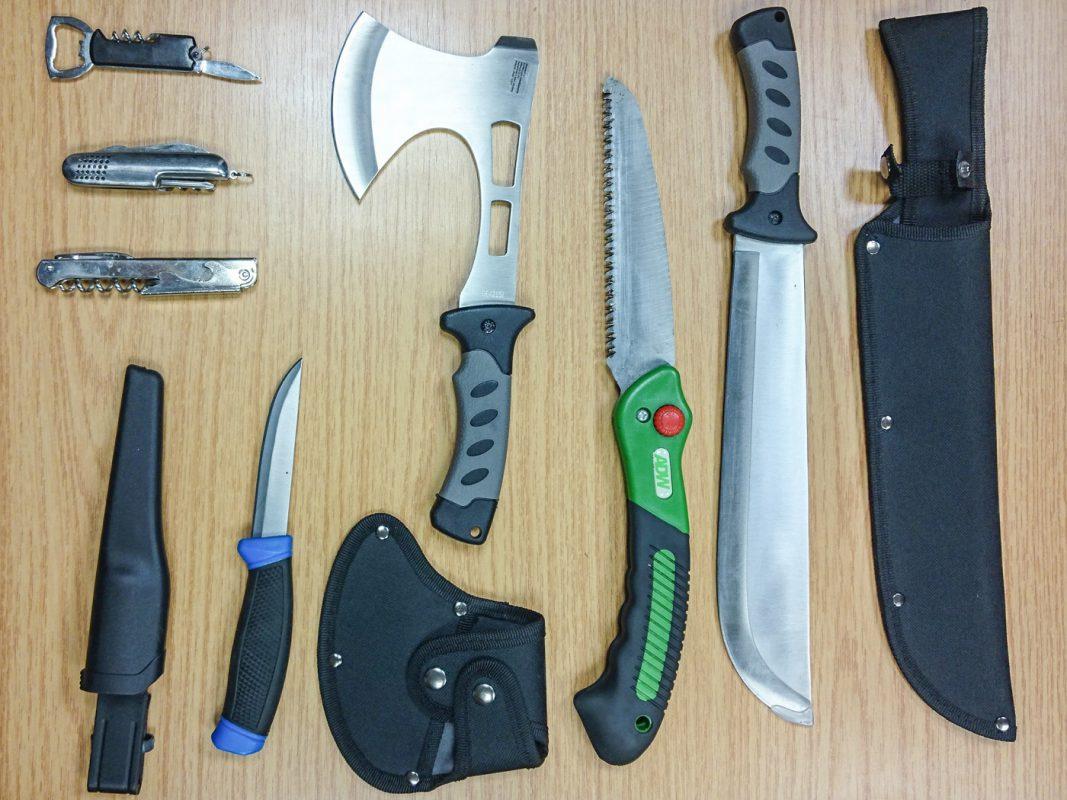 Die sichergestellten Gegenstände. Foto: Bundespolizei