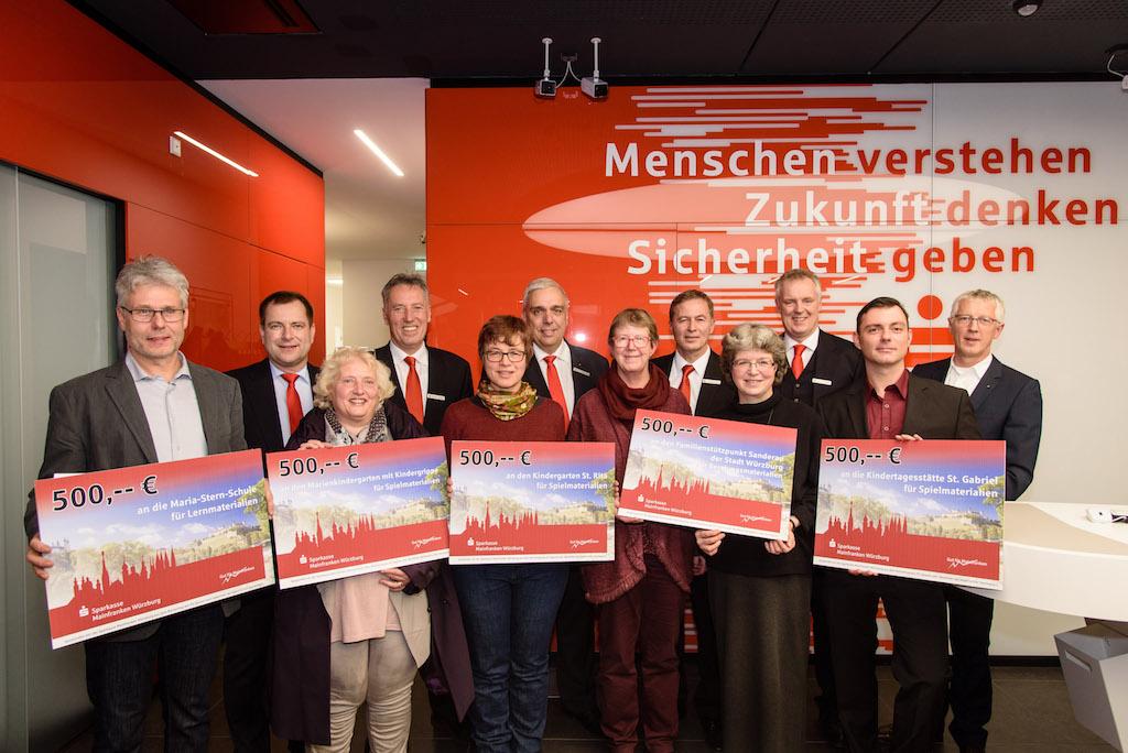 Die Spendengeber und -empfänger auf einen Blick - Foto: Sparkasse Mainfranken Würzburg