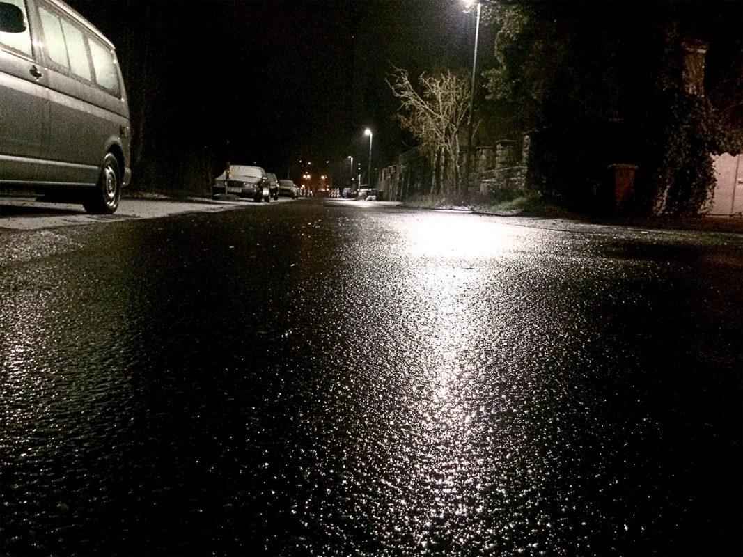 Stellenweise Straßenglätte - Foto: Pascal Höfig