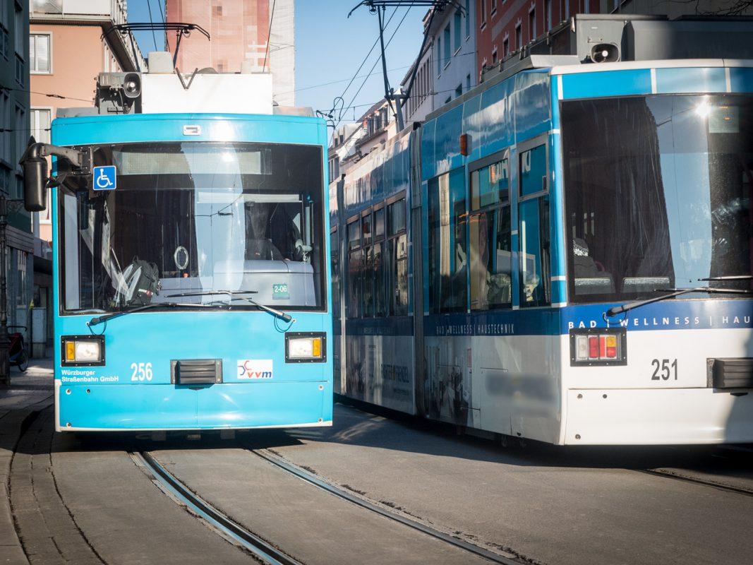 Straßenbahnen in Würzburg. Symbolfoto: Pascal Höfig