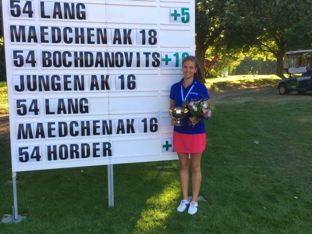 Theresa de Bochdanovits' erster Meisterschaftstitel. Foto: Golf Club Würzburg