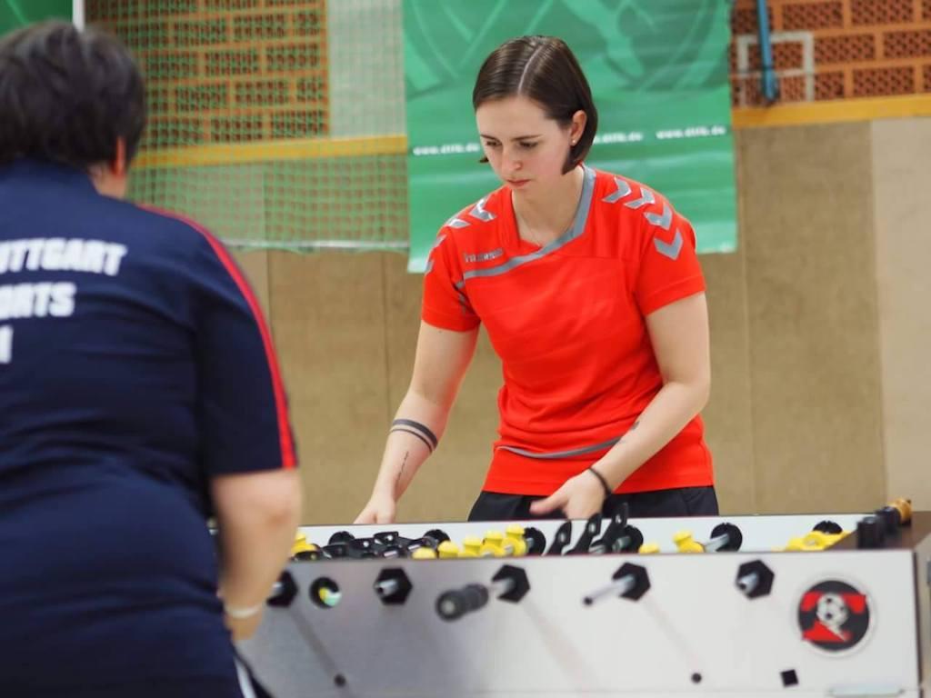Katja in Action - Foto: FoosPic/Katja Dwenger