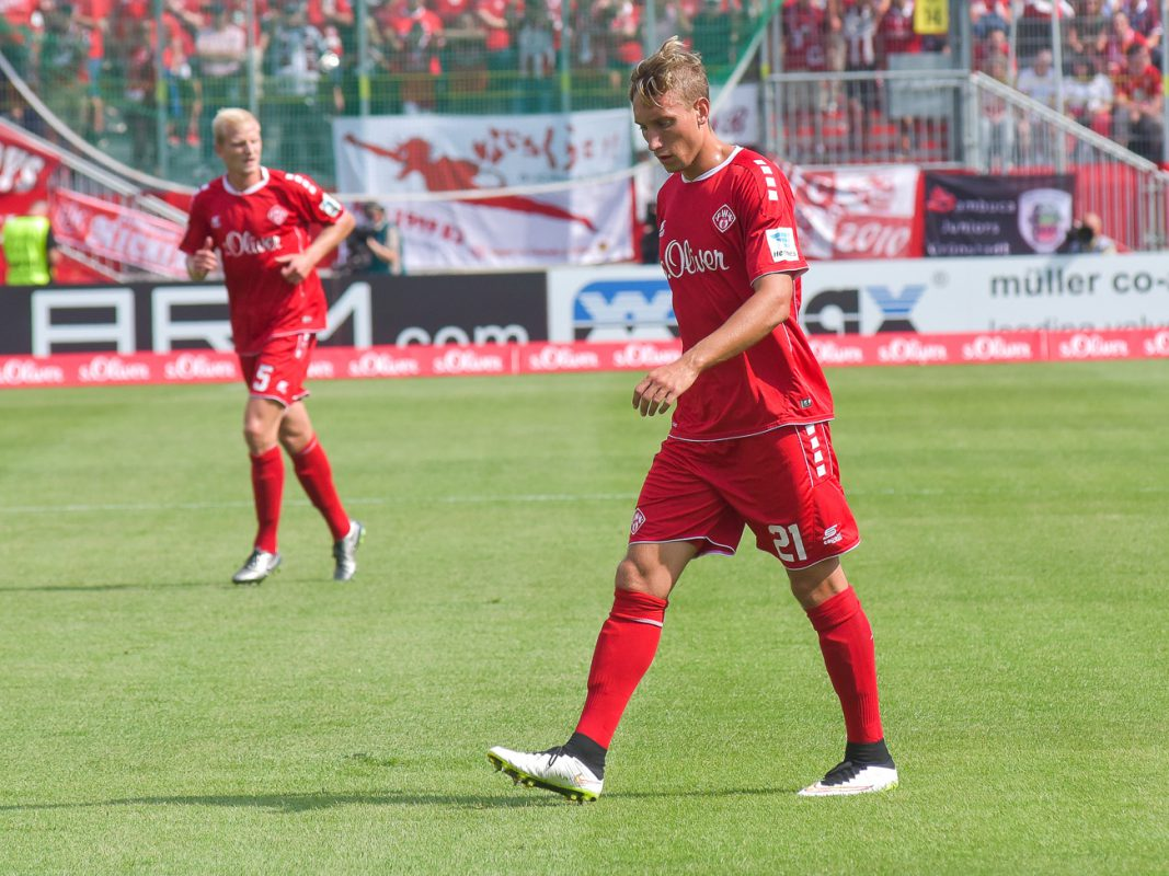 Tobias Schröck von den Würzburger Kickers. Foto: Pascal Höfig
