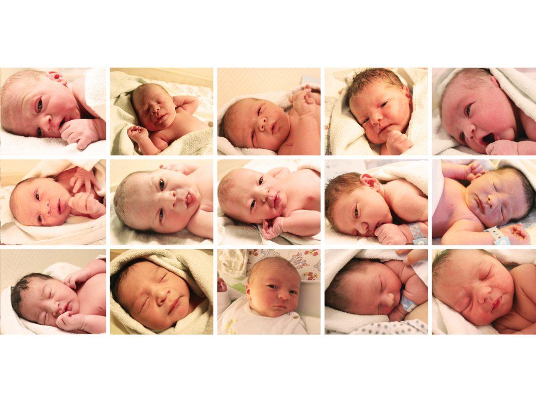 Beispiele aus den an der Würzburger Universitäts-Frauenklinik im vergangenen Jahr geborenen Kindern. - Foto: Universitätsklinikum Würzburg