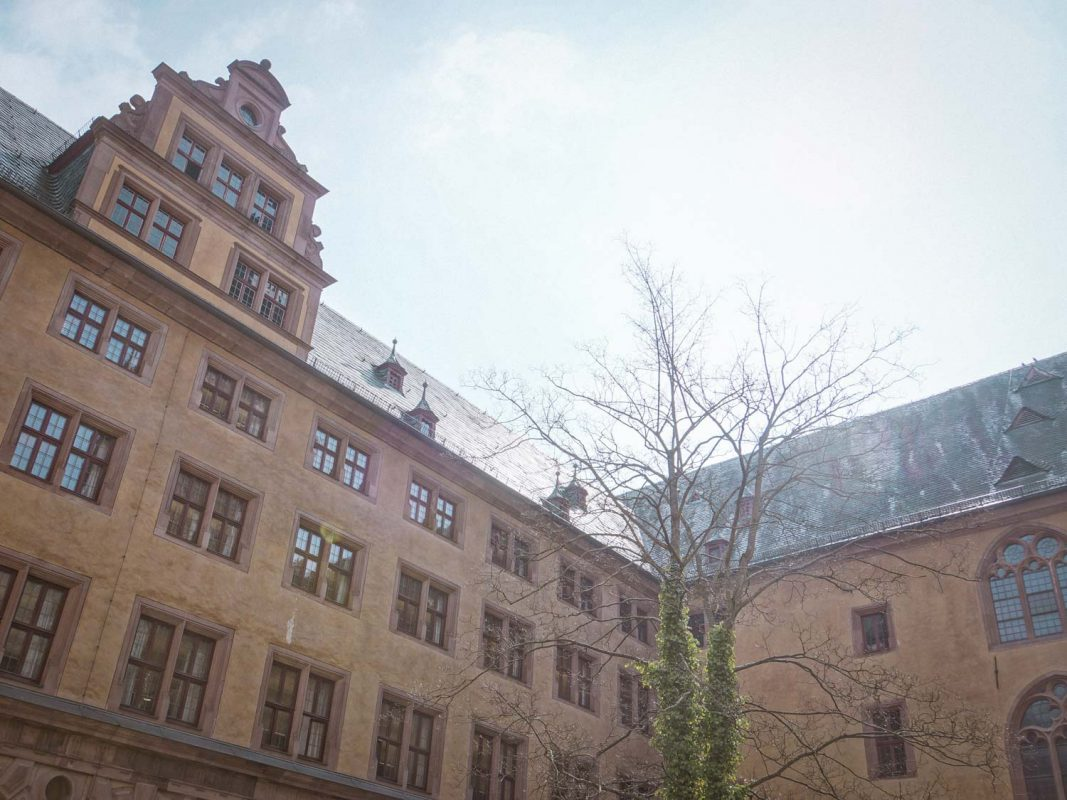 Universität Würzburg, Fakultät Jura in der Domerschulstraße. Foto: Dominik Ziegler