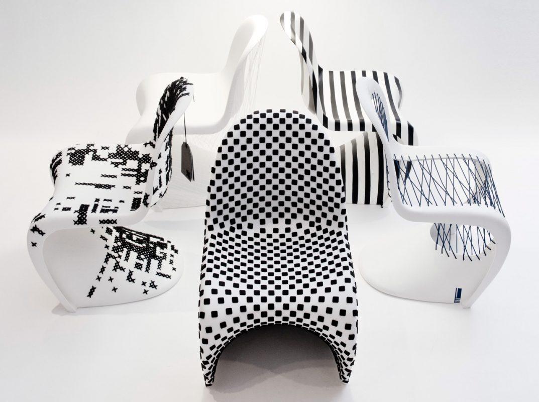 Namhafte Architekten machten aus weißen Vitra-Stühlen echte Unikate! – Foto: Nico Manger